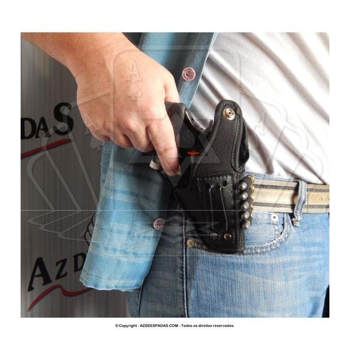 Coldre de couro revolver 5 tiros 2 polegadas destro 2