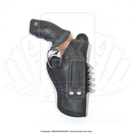 Coldre de couro revolver 5 tiros 3 polegadas 4