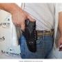 Coldre de couro revolver de 6 tiros 4 polegadas para destro 1
