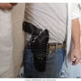 Coldre de couro revolver de 6 tiros 4 polegadas para destro 2