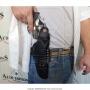 Coldre de couro revolver de 6 tiros 4 polegadas para destro 3