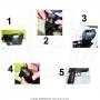 Manga de borracha para empunhadura de pistolas 1