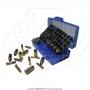 Estojo para 50 municoes calibre 22lr 380 9mm 2