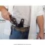 Coldre de couro revolver de 6 tiros 4 polegadas para destro 4