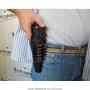 Coldre de couro revolver de 6 tiros 4 polegadas para destro 8