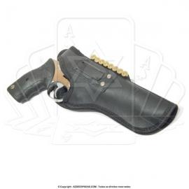 Coldre de couro revolver 8 tiros 6 polegadas 5