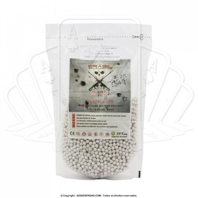 Esfera BB Munição para Airsoft .12 gramas BB King com 5000 unidades