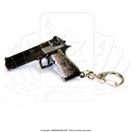 Chaveiro de Arma Desert Eagle .50AE Metal Envelhecido