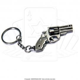 Chaveiro de Arma Revólver Com Tambor Giratório 3 Polegadas