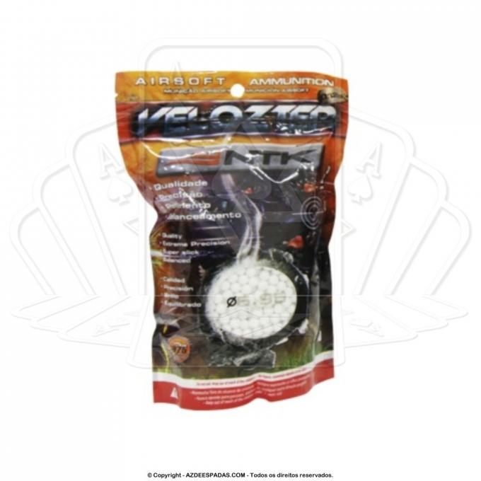 Esfera BB Munição para Airsoft .25 gramas VELOZTER com 5000 unidades