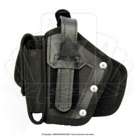 Coldre Universal de Cintura com Porta Carregador - Canhoto