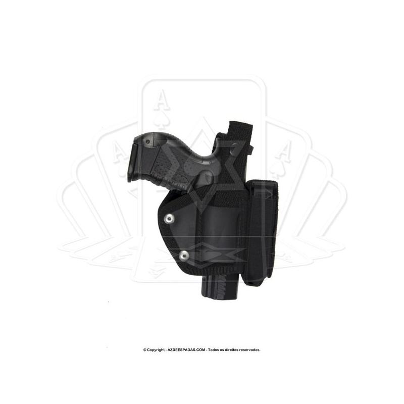 Coldre Universal de Cintura Mini Panquequinha com Porta Carregador - Destro