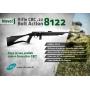 Rifle 8122 bolt action 10 tiros coronha de polimero 1