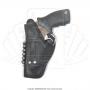Coldre de couro revolver 6 tiros 3 polegadas para canhoto 2