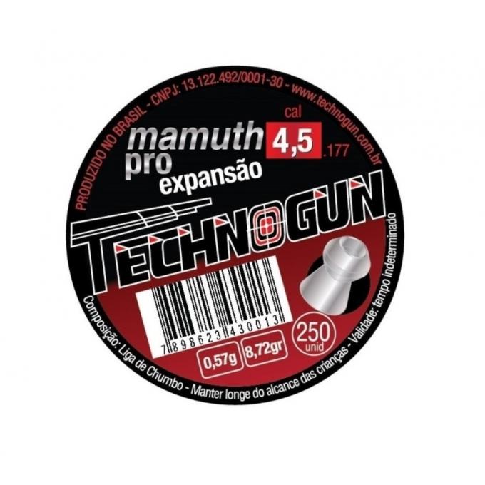 Chumbinho Mamuth Expansão Technogun 4,5 com 250 unidades