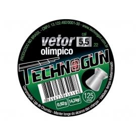 Chumbinho Vetor Olímpico Technogun 5.5 com 125 unidades