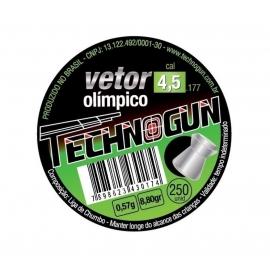 Chumbinho Vetor Olímpico Technogun 4,5 com 250 unidades