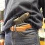 Coldre de couro revolver 6 tiros 3 polegadas para canhoto 9