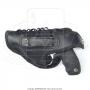 Coldre de couro revolver 6 tiros 3 polegadas para canhoto 10