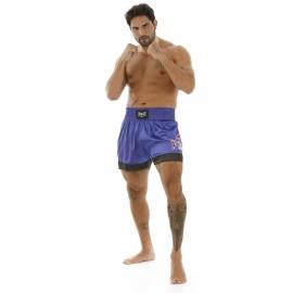 Shorts Muay Thai Bordados Laterais