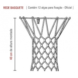 Rede Cesta de Basquete NBA 4,0mm