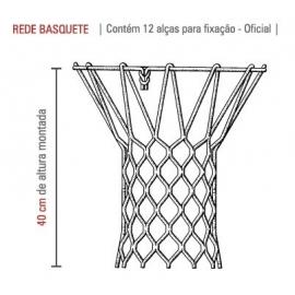 Rede Cesta de Basquete NBA 6,0mm