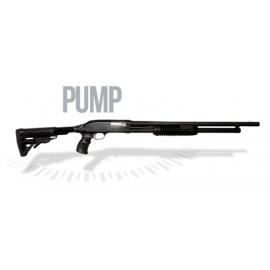 Espingarda Boito PUMP Cal. 12GA 8 tiros com Coronha Retrátil Oxidada