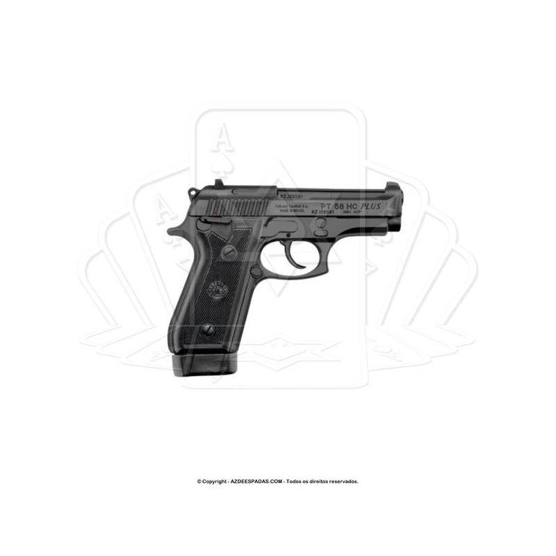 Pistola Taurus 58 HC Plus 20 Tiros Oxidada Fosco Calibre 380