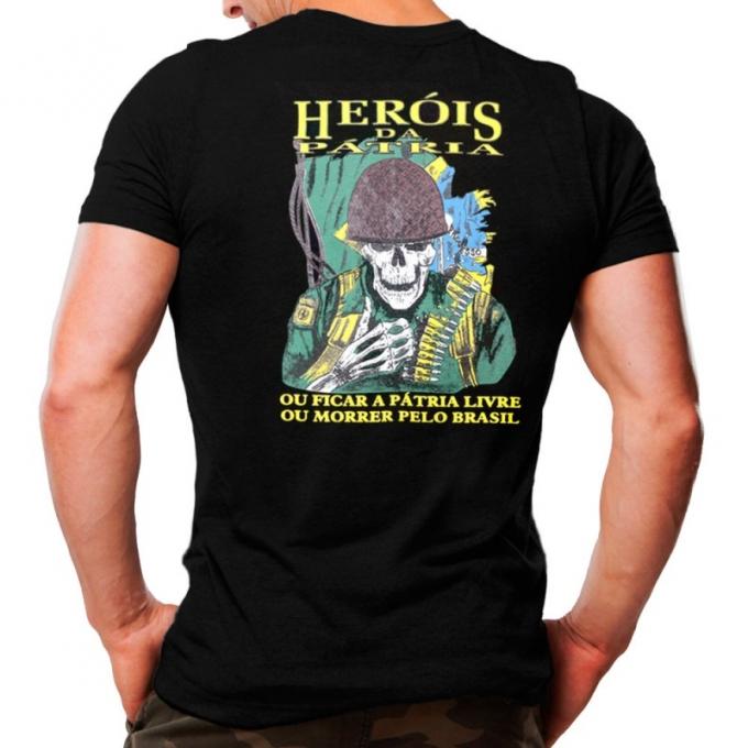 Camiseta Militar Estampada Heróis da Pátria