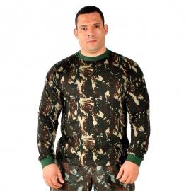 Camiseta Camuflada Manga Longa Exército Brasileiro Algodão