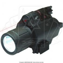 Lanterna Tática com Laser para Pistolas Policiais